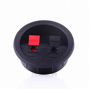 2pcs Audio Connector Two Speaker Junction Panel Round