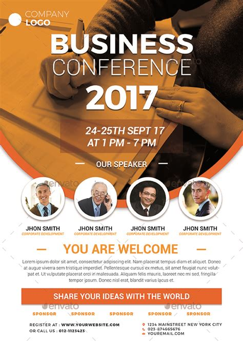 conference flyer  vynetta graphicriver