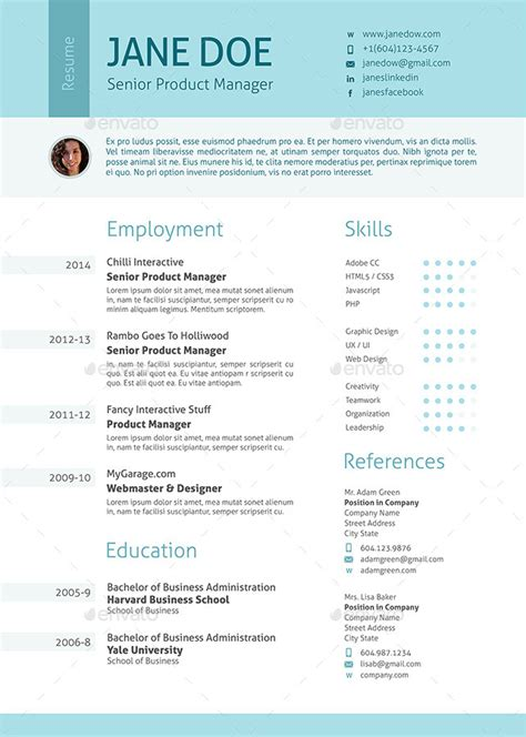 Stylish Resume by Stylish Clean Resume By Ofrika Graphicriver