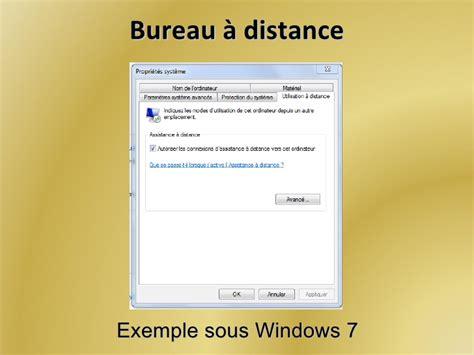 autoriser bureau a distance contr 244 le d un ordinateur 224 distance