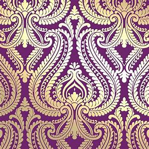 Damask Wallpaper Bedroom Gold Background Wallpaper Plum