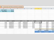 Calcular horas extras en Excel • Excel Total