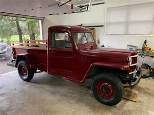 1954 Willys Overland Jeep Pickup Truck 4wd F4-134 4cyinder