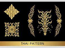 Golden thai ornaments art vector material 10 Vector