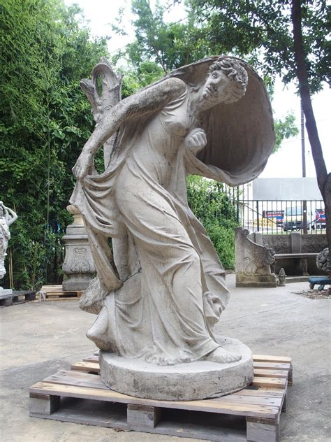 Woman Frightened by Lightning - Cast Stone Statue After ...