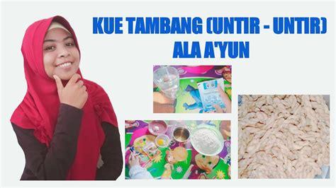 Tepung terigu(1 gelas blimbing)•gula pasir(2 sdm)•margarin(1 sdm)•vanili•air(6 sdm)•minyak goreng•pewarna. Resep kue tambang - by Qurrotul A'yun - YouTube