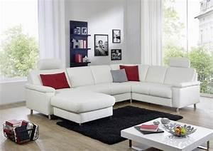 Canapé D Angle En U : grand canap d angle marwin c 6 places en u cuir ou tissu au choix ~ Teatrodelosmanantiales.com Idées de Décoration