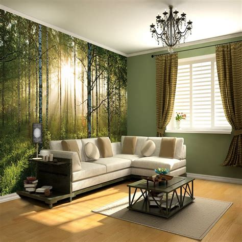 wall giant wallpaper mural forest