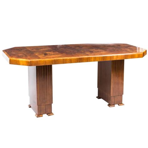 wood dining tables for antique deco dining table burr walnut circa 1930 for 1930