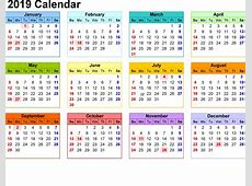 Calendar Template 2019 Dr Odd