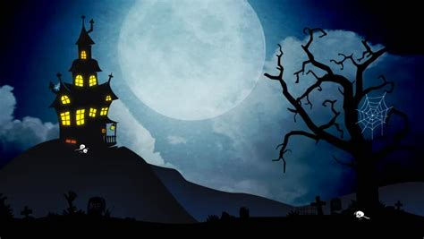 Stock Video Clip Of A Spooky Background Of A Haunted House