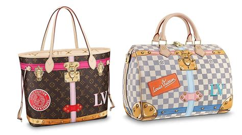 classic handbags  color stickers   loving louis vuittons  summer capsule collection