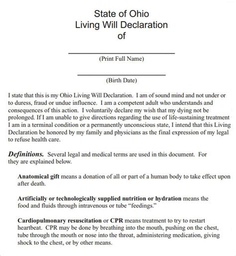 living  template    documents