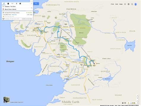 Si Frodon et Sam avaient utilisé Google Map, comme tout le ...