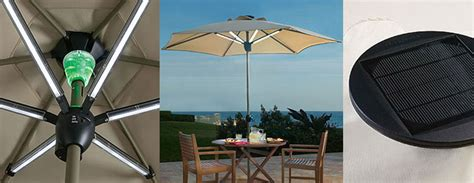 solar powered patio umbrella shade by day and light at
