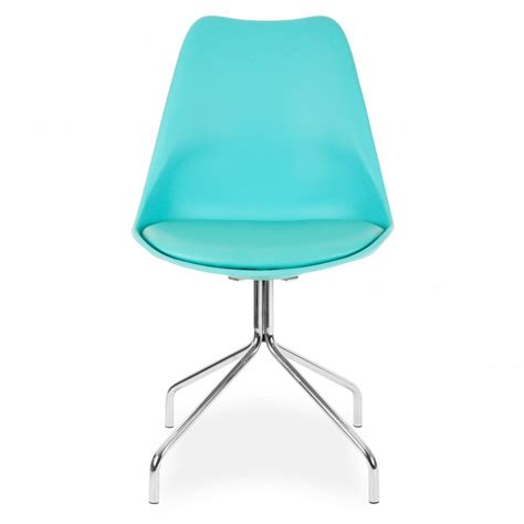 bureau turquoise style turquoise dining chairs metal cross legs