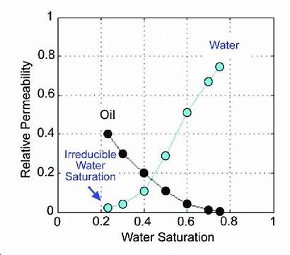 Permeability Relative Curves Oil Irreducible Water Saturation