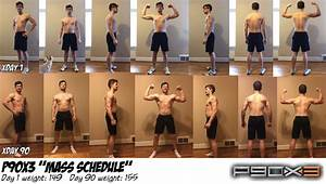 P90x3  U0026 39 Mass Schedule U0026 39  90 Day Results   P90x
