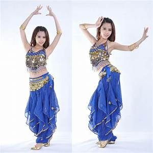 New Belly Dance Costume top &gold wavy pants 12 colours | eBay