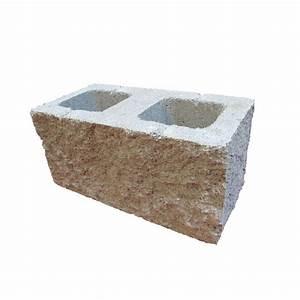 8 split face concrete block