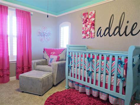 Maddies Pink Aqua And Gray Chevron Nursery Project