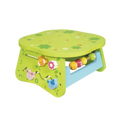 baby activity table wooden wooden multi activity table for children off 1 year