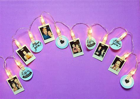 Lichterkette Mit Fotos by Foto Lichterkette Basteln Pers 246 Nliche Diy Deko Selber Machen