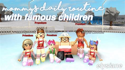 Roblox  Bloxburg Mommy's Daily Routine With Famous