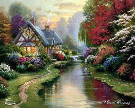 kinkade cottage painting kinkade or marketing genius or both