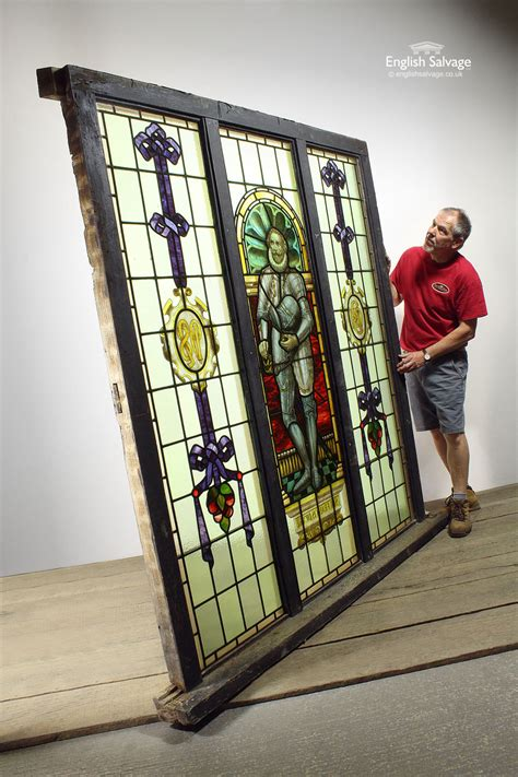 large francis drake stained glass window