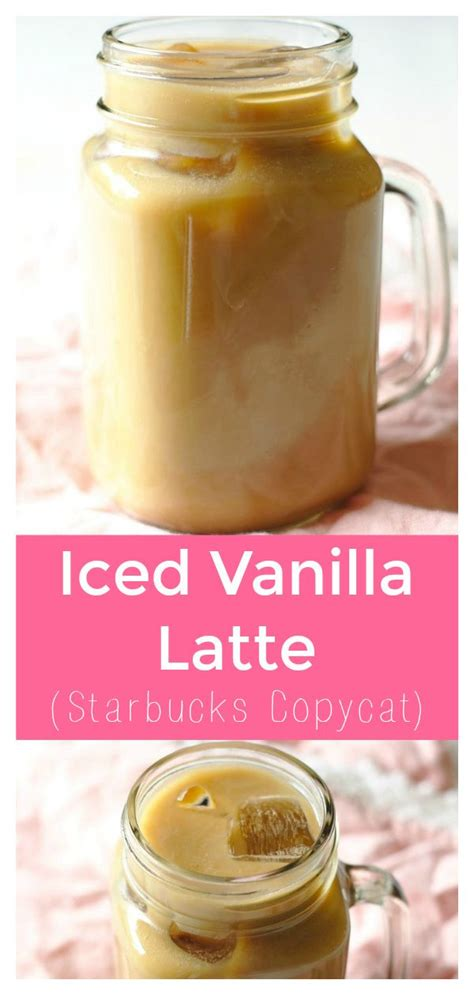 This sweet iced vanilla latte is a must make. Iced Vanilla Latte (Starbucks Copycat) | Recipe | Vanilla iced coffee recipe, Iced vanilla latte ...