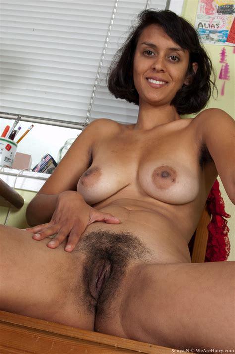 Horny Sonya N Spreads Her Bush