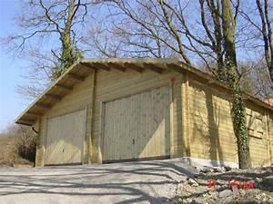 construction garage bois sur mesure toit plat autoclave With construction d un garage en bois
