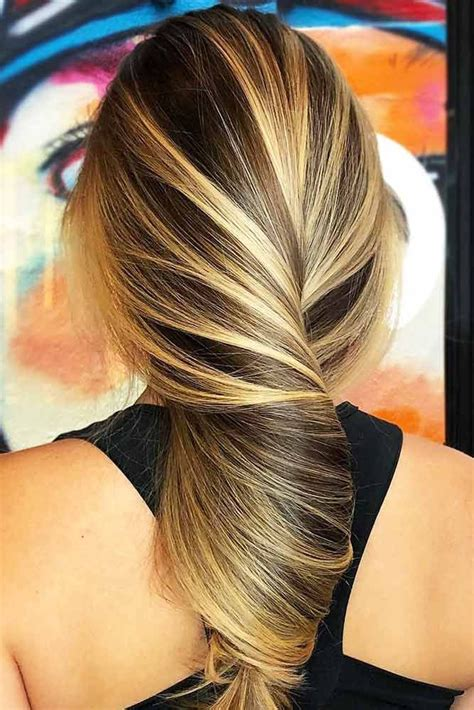 hair color   brown highlighted hair  golden
