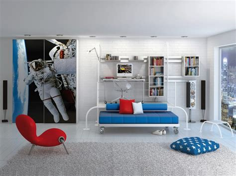 Space Theme Room × Poster Print Kids Rooms Wallpaper