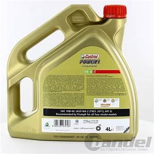 Castrol 10w40 Motorrad : 7 11 l 2x4l castrol power 1 4t 4 takt 10w40 motorrad l ~ Jslefanu.com Haus und Dekorationen