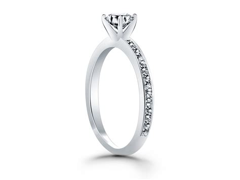 classic pave diamond band engagement ring in 14k white gold richard cannon jewelry