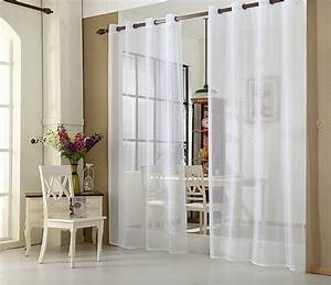 ösen Gardinen Weiß : gardine vorhang transparent mit sen senschal 140x245cm wei vh5510ws ebay ~ Whattoseeinmadrid.com Haus und Dekorationen