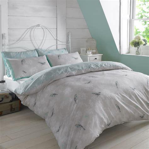 Polycotton Duvet Cover With Pillow Case Bedding Set Single
