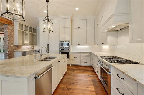 baton traditional custom home white marble