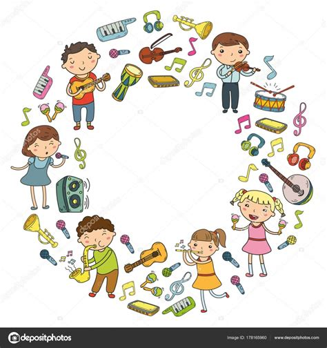 clipart per bambini scuola di musica per i bambini illustrazione vettoriale