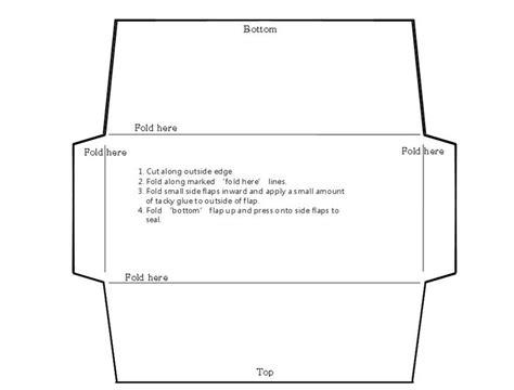envelope template fotolip