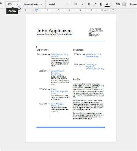 Eye Appealing Resumes by Create An Eye Catching Resume In Docs