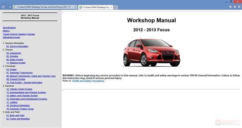 ford focus  workshop repair manual auto repair