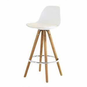 Chaise Plan De Travail : chaise plan de travail blanche tr pied en bois scandinave mooviin ~ Teatrodelosmanantiales.com Idées de Décoration