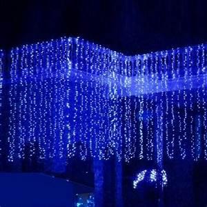 Guirlande De Lumière : 3mx3m 300led rideau lumi re guirlande lumineuse f e d coration pour soir e mariage no l bleu ~ Teatrodelosmanantiales.com Idées de Décoration