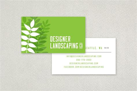designer landscaping business card graphic design
