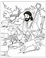Shepherd Coloring Jesus Sunday Bible Sheep Lord Lost Clipart Sheets Parable Colouring Activities Craft Clip Preschool Crafts Psalms Activites Catholic sketch template