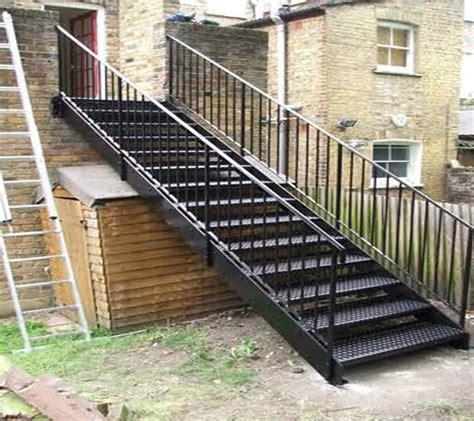 escalier metallique exterieur prefabrique escalier m 233 tallique ext 233 rieur grilles marches escalier ext 233 rieur conception de garde corps