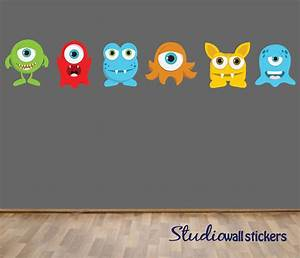 reusable monsters wall decal childrens by With monsters inc wall decals for kids room